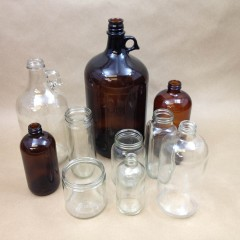 Gallon glass (128 oz.) jugs